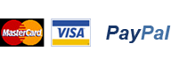 Payment methods - Visa, Mastercard, Paypal